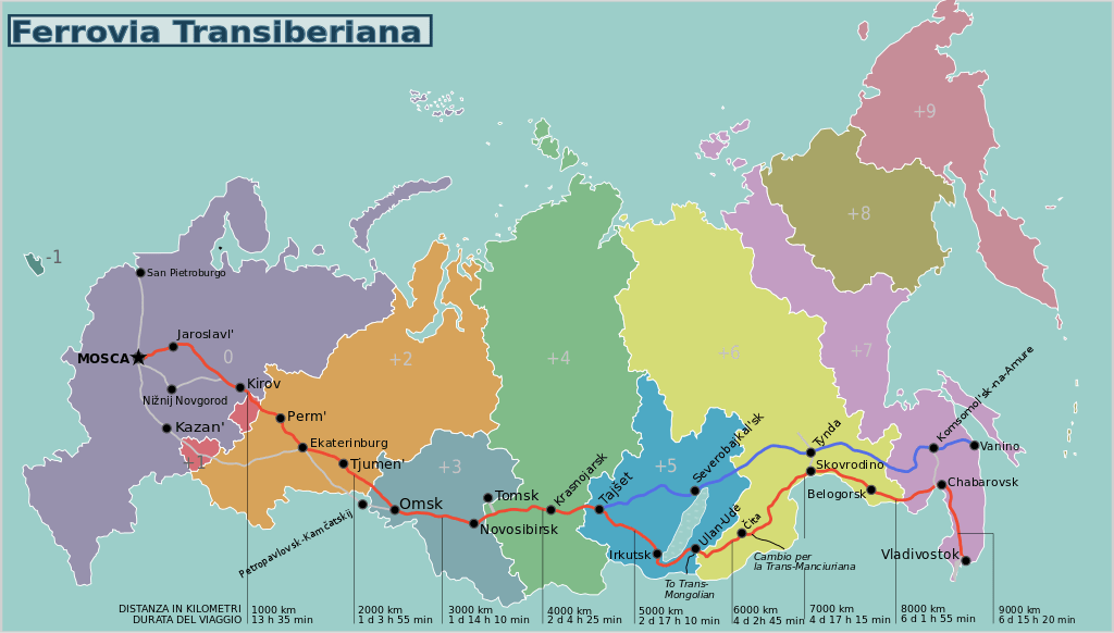 itinerario transiberiana