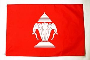 Antica bandiera del Laos Zingaro di Macondo